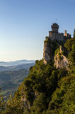 The second tower: the Cesta or Fratta, San Marino, Italy. Royalty Free Stock Photo
