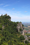 Second tower the Cesta or Fratta San Marino landscape Royalty Free Stock Images