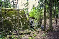Second World War Bunker build by German Nazi in Poland Royalty Free Stock Photo