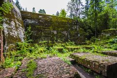 Second World War Bunker build by German Nazi in Poland Stock Photo