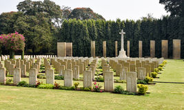Second World war cemetery, memorial to soldiers Stock Photo