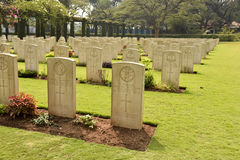 Second World war cemetery, memorial to soldiers stock image