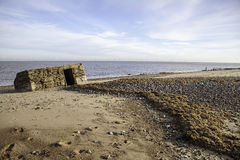 Second world war coastal defence building Stock Images