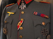 Second World War German formal military uniform. World War II : The upper garment of the german formal military uniform with its decoration Stock Photo