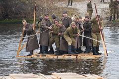 Second World War on the history Military reconstruction in Kyiv Stock Photography
