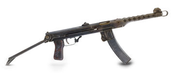 Second World War.Mashine gun . Stock Image