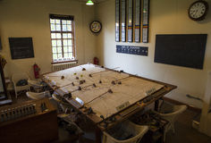 Second World War Operations Room at Duxford Royalty Free Stock Photography
