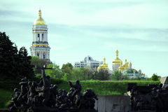 The Second World War and Orthodox Church. Kyiv, dome, cupolas, Kiev-Pechersk Lavra Stock Photo