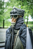 Second world war outfit at the historic Westerplatte peninsula Stock Images