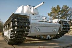 Second World War period tank. Big white crawler tank of Second World War period Royalty Free Stock Photography