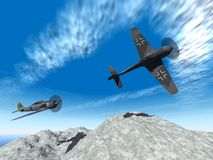 Second world war planes attack Royalty Free Stock Photography