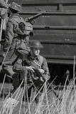 Second world war soldiers royalty free stock photography