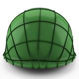 seconda guerra mondiale del casco dell'esercito di 3d S.U.A. Fotografie Stock Libere da Diritti