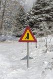 ` Secondaire adjacent de route de ` de signe photographie stock libre de droits