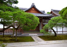 Secondary buildings of Silver Temple in Kyoto. Royalty Free Stock Photo
