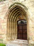 Secondary entrance of the medieval fortified church Harman (Honigsberg). Medieval vestiges near the medieval city with the largest preserved area in Europe royalty free stock photos
