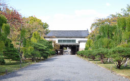 Secondary gate to the Kyoto Nijo castle gardens Royalty Free Stock Image