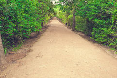 Secondary Road Path From Angkor`s Temple.Cambodia Royalty Free Stock Photography