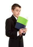 Secondary school student reading Royalty Free Stock Photos