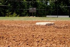 Seconde base sur le terrain de base-ball photo libre de droits