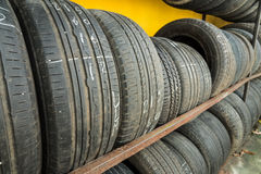 Secondhand tire Royalty Free Stock Images