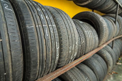 Secondhand tire Royalty Free Stock Image