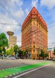 Secondi costruzione di dominio di stile dell'impero e gabinetto storici di Vancouver fotografie stock libere da diritti