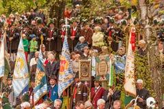 Secondment флагов в обслуживании ¼ Gebirgsschà tzen Стоковые Фотографии RF