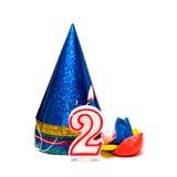 secondo compleanno Fotografia Stock