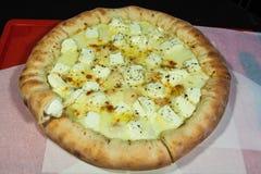 Secondo corso, pizza, minestra Fotografie Stock