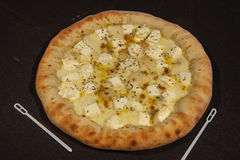 Secondo corso, pizza, minestra Immagini Stock