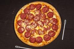 Secondo corso, pizza, minestra Fotografia Stock Libera da Diritti