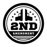 Secondo emendamento alla costituzione degli Stati Uniti per permettere detenzione delle armi Illustrazione di vettore su bianco illustrazione di stock