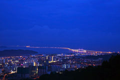 In secondo luogo ponte di Penang Immagini Stock