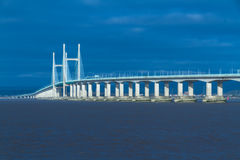 In secondo luogo Severn Crossing, ponte sopra Bristol Channel fra l'Inghilterra Immagini Stock Libere da Diritti