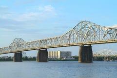 Secondo ponte della via fra il Kentucky e l'Indiana Fotografia Stock Libera da Diritti