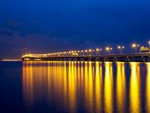 secondo ponte di Penang a Penang Malesia Fotografia Stock Libera da Diritti