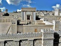 Secondo tempio. Gerusalemme antica Fotografia Stock Libera da Diritti