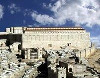 Secondo tempio. Gerusalemme antica Immagini Stock Libere da Diritti