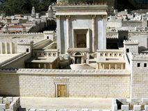 Secondo Temple.Model di Gerusalemme antica Fotografia Stock Libera da Diritti