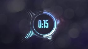 30 seconds animated timer stock footage