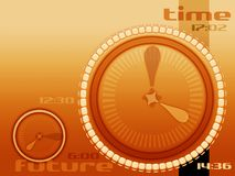 Seconds and hours. Simple concept of time and future stock illustration