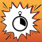 The 20 seconds, minutes stopwatch sign. Vector. Comics style ico. N on pop-art background royalty free illustration