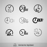 10 seconds vector icons. Vector time icons. 10 seconds symbols. Design elements stock illustration