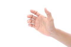 Secousse de main d'homme Photographie stock