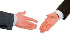 Secousse de main de deux Image libre de droits