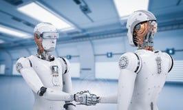 Secousse de main de robot d'Android illustration de vecteur