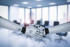 Secousse de main de robot illustration stock