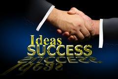 Secousse de réussite et de main illustration libre de droits