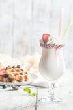 Secousse faite fraîche de vanille Photo libre de droits